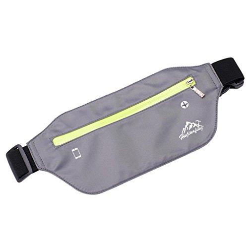 VJGOAL Damen Bauchtasche, Unisex Damen Herren Outdoor Sport Neutral Reine Farbe Wasserabweisend Nylon Messenger Brusttaschen (Grau)