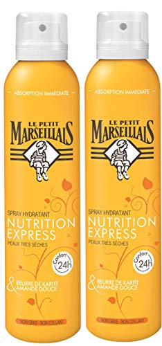 Le Petit Marseillais Spray Nutrition Express Beurre de Karité/Amande Douce 200 ml - Lot de 2