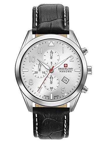 Swiss Military Hanowa Reloj Analógico para Unisex Adultos de Cuarzo con Correa en Cuero 06-4316.04.001