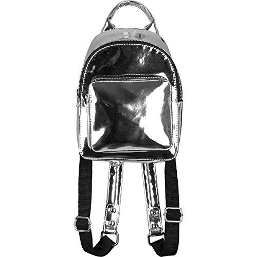 Mini Metallic Backpack silver one