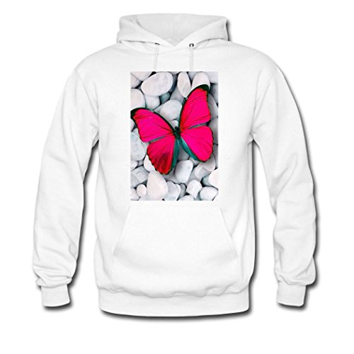 Butterfly Hooded Sweatshirt (weileDIY Butterfly DIY Custom Men's Printed Sweatshirts Hooded)