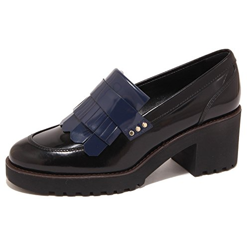 5896O mocassino HOGAN ROUTE nero/blu scarpa donna shoe woman [35]