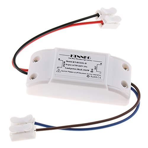 H HILABEE Control Remoto Inalámbrico Luces Para El Hogar Interruptores De Encendido Para Bombilla LED De Hasta 10 Pies