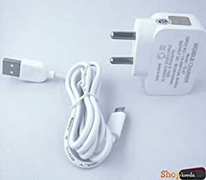 "HSL Y501 Plus COMPATIBLE ACTAUAL ""2.0 Ampere"" Superfast Charging Wall Charger + Charging Cable"