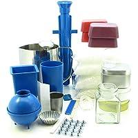 Carron Valley Crafts - Set para creación de velas,  moldes, cirios, jarra, 2,5 kg de cera para 50 velas