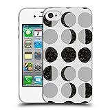 Head Case Designs Offizielle Amanda Laurel Atkins Mondphasen Weiss Muster Soft Gel Hülle für iPhone 4 / iPhone 4S