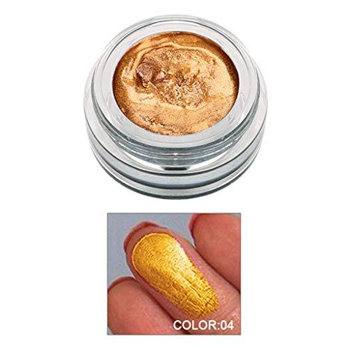 wyxhkj Ombre à paupières 14 couleurs surligneur gelée gelée de maquillage correcteur shimmer visage lueur fard à paupières (D)