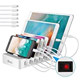 allcaca USB Ladestation 6-Port Dockingstation für Smartphone Tablet Android IOS...