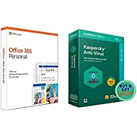 Combo: Microsoft Office 365 Personal(1 User/1 Year) + Kaspersky Anti-Virus (1 User/1 Year)
