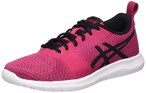 Asics Kanmei, Zapatillas de Entrenamiento Mujer, Multicolor (Cosmo Pink/Black/Plune), 36 EU