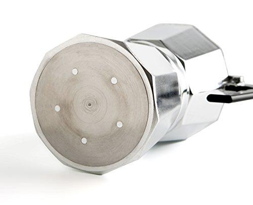 Quid EasY Coffee-Caffettiera a induzione in alluminio, 6 tazze