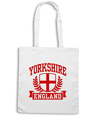 T-Shirtshock - Borsa Shopping TSTEM0101 yorkshire england mens Bianco