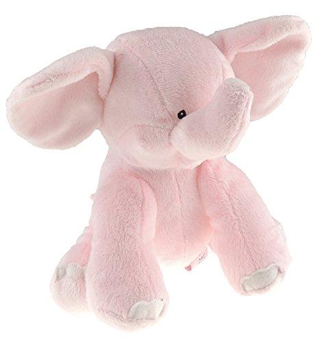 Glamour Girlz Baby Girls Boys Super Soft Plush 20cm Sitting Elephant Pink