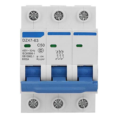 Disyuntores de protección en miniatura 3P DZ47-63 50A 400V