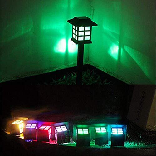 XYQY 2-20 Pack Led Solar Pathway Lampen Lampen Outdoor wasserdicht Solar Garten Rasenlampen für Garten Landschaft Path Yard Patio Gehweg 6PCS veränderlich