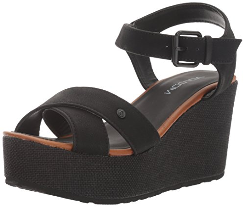 Volcom Sandals with Wedge Stone, Color: BLACK, Size: 40 EU (9 US / 6,5 UK)