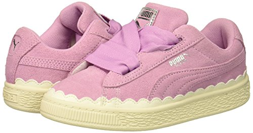 PUMA Baby Suede Heart Rubberized Kids Sneaker  Orchid-Whisper White  6 M US Toddler