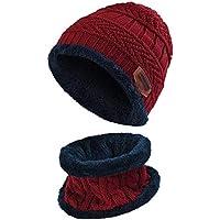 CCZZ Sombrero de Invierno para Niñas, Gorro de Punto y Bufanda Niños Beanie Gorros con Bufanda,Sombreros de Suave Encantador Invierno de Lana