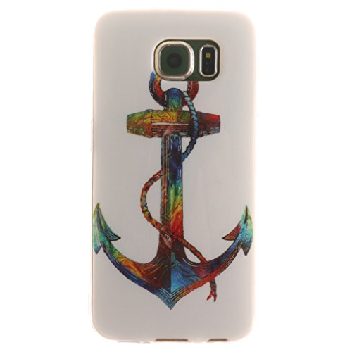 PowerQ Bunte Muster Serie Malerei Druck TPU Case Fall Hülle Etui < Black smile - für IPhone6SPlus IPhone 6SPlus 6Plus IPhone6Plus >        Zeichnung Tasche weiche Silikon Abdeckung Soft Silicone Cover Handyt Colorful Anchor