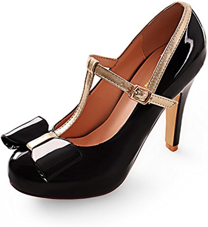 WLJSLLZYQ La Version coréenne des Chaussures Arc Arc Arc Doux/T   Ceinture Boucle Chaussures FemmesB06XJSNW7TParent | Fiable Réputation  90d595