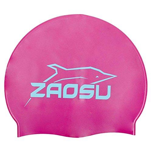 ZAOSU Silikon Badekappe (großes Logo), Farbe:lila