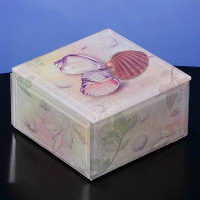 San Francisco Music Box Seashells Glass Music Box
