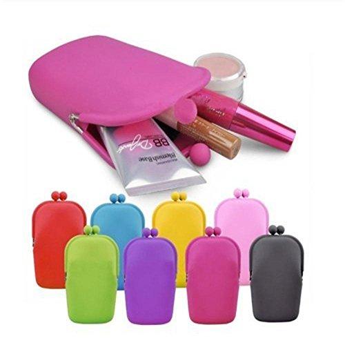 Tankerstreet Carino Mini Raccoglitore, Silicone Portamonete Ragazza Storage Bag per Spiccioli Vari Colori �?Rosa Giallo
