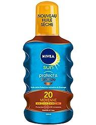 Nivea Sun Huile Sèche Activatrice de Bronzage Protect et Bronze FPS20 200 ml