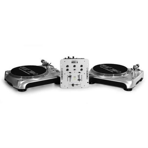 Impianto DJ set completo 2 giradischi mixer cuffie Homemix TT500 10004085