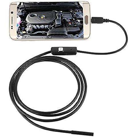 Ularmo 5.5mm cámara de inspección de animascopio impermeable Cámara Digital endoscopio Tubular 6 LED para teléfono Andorid