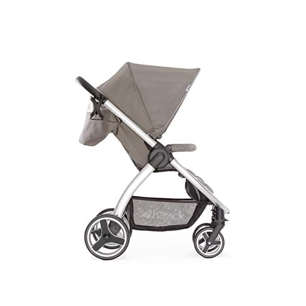 Hauck Lift Up 4, Lightweight Pushchair from Birth to 25 kg, Quick Fold with One Hand with Lying Position, Telescopic, Height-Adjustable Push Handle, Cup Holder, Charcoal Hauck EASY FOLDING - Thanks to its One-Hand-Fold mechanism, this pushchair is folded away within seconds up to a small size. This can be easily transported by the carry strap, leaving one hand free for your little one LONG USE - This buggy can be used over a long period of time as it is suitable from birth thanks to lying position and up to 25 kg. It can also be combined with the hauck Comfort Fix infant car seat + adaptors or hauck 2in1 Carrycot COMFORTABLE - Thanks to backrest and footrest beign adjustable into lying position which is suitable for bigger children, too, as well as large sun hood with UV protection and height-adjustable, telescopic push handle 4