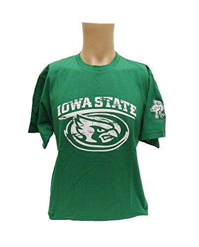 Donegal Bay NCAA Iowa State Cyclones Short Sleeve Tee, Unisex, grün, XX-Large - Ls Baumwoll-twill Hemd