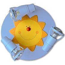 Waldi Leuchten Deckenstrahler Sonne Round Himmelblau | 40W | 65235.0