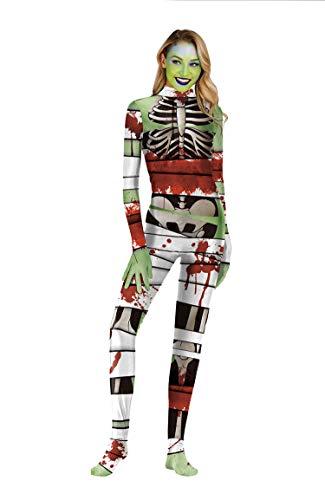 URVIP Unisex Halloween Unheimlich Gespenstisch Bodycon Party Cosplay Kostüm Overalls WB141-011 XL