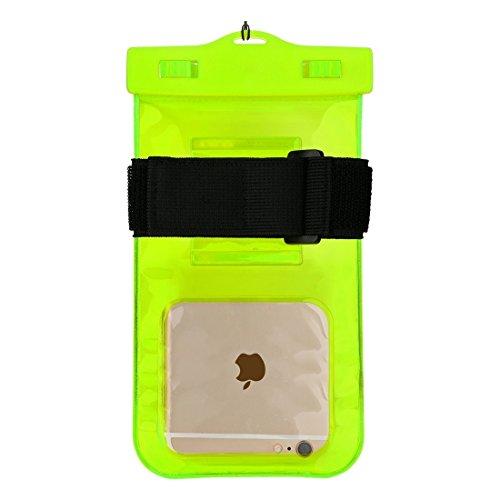 YAN Für iPhone 6 / 6s / 6 Plus / 6s Plus Touchscreen Transparent Universal wasserdicht ABS Clip Bag Case mit Lanyard unter 5,5 Zoll Smart Phone ( Color : Blue ) Green