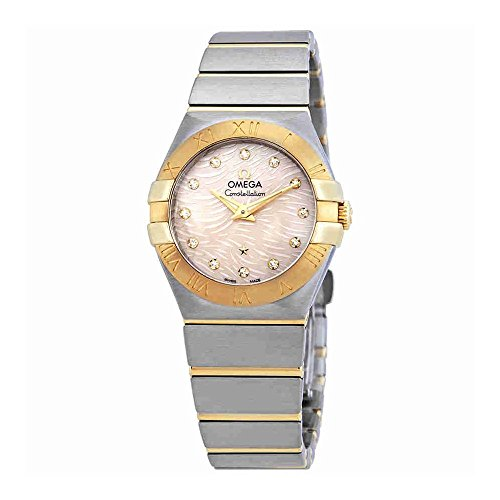 Omega Constellation coral quadrante orologio da donna 123.20.27.60.57.005