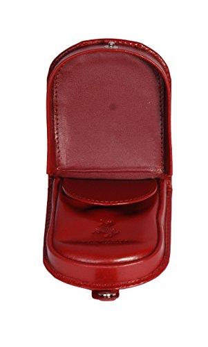Luxus Echtes Leder Kleine Münze Tray Geldbörse Tasche ändern Fall Geschenk Boxed HOL5RT (Rot) Rot