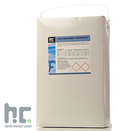 Höfer Chemie 1 x 10 kg Waschpulver - im 10 KG Karton - Vorratspack