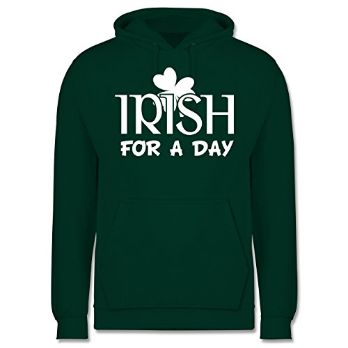 St. Patricks Day - Irish for A Day St Patricks Day - L - Dunkelgrün - JH001 - Herren Hoodie