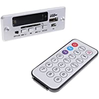 MagiDeal Placa de Decodificador Bluetooth MP3 WMA Mando a Distancia Módulo de Audio USB TF Radio para Coche - Plata