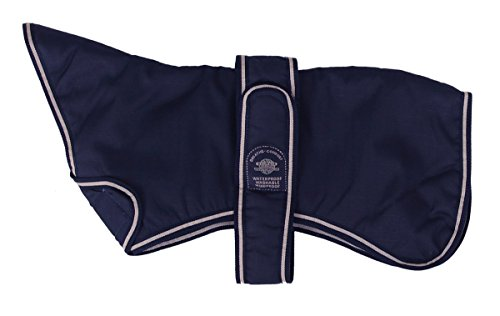 Outhwaite Hundejacke Navy bluehound, gepolstert, 40,6 cm, - Mantel Windhund
