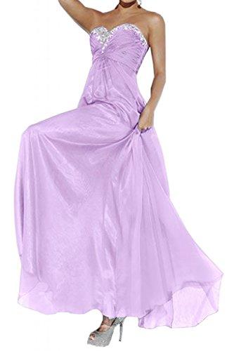 Toscane mariée abendmode empire chiffon abendkleider de longueur fixe party ballkleider demoiselle dhonneur Violet - Lilas
