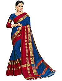 b752ca5651d2a VAIVIDHYAM Women s Cotton Silk With Blouse Piece.