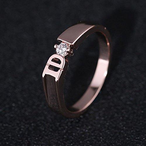 Für Verheiratet Männer Ringe Gold (Ido-Diamant-Ring Mode Einfachen Brief Der Suche Nach Verheiratete Männer Und Frauen Des Ringes Zirkon Ring Rose Gold 6 #)