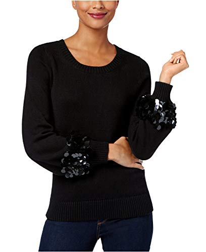 Michael Kors Winter Pullover (Michael Michael Kors Women's Petite Cotton Paillette-Sleeve Sweater)