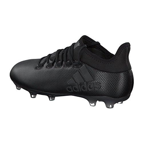 adidas Herren X 17.2 FG Fußballschuhe Schwarz (Cblack/Cblack/Supcya Cblack/Cblack/Supcya)
