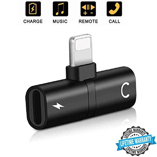 Für iPhone Adapter Kopfhörer-Adapter für iPhone 8 / 8Plus / 7 / 7Plus / X/XS max/XR 3 in 1 Ladekabel Klinke Dongle Kopfhörer-Konverter-Anschluss AUX & Audio-Zubehör Schnelle Autoadapter-Splitter Kopfhörer-anschluss