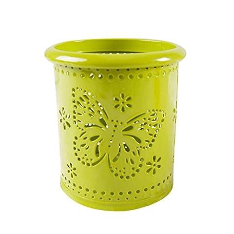 Stifthalter, Huihong SchüLer Make-Up Pinsel Vase Schmetterling Pinsel Topf Stift Inhaber Schreibwaren Lagerung FüR Kinder EröFfnung Schule Geschenk (Grün)
