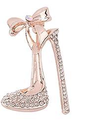 GGG Mujeres de moda joyería de diamantes de imitación de zapatos de tacón alto broches broche de broche de corsé nuevo color dorado