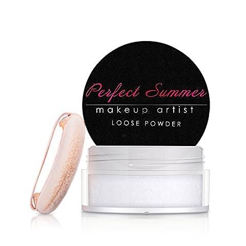 Perfect Summer Loose Powder Translucent Makeup Loose Face Powder #002-White,8g